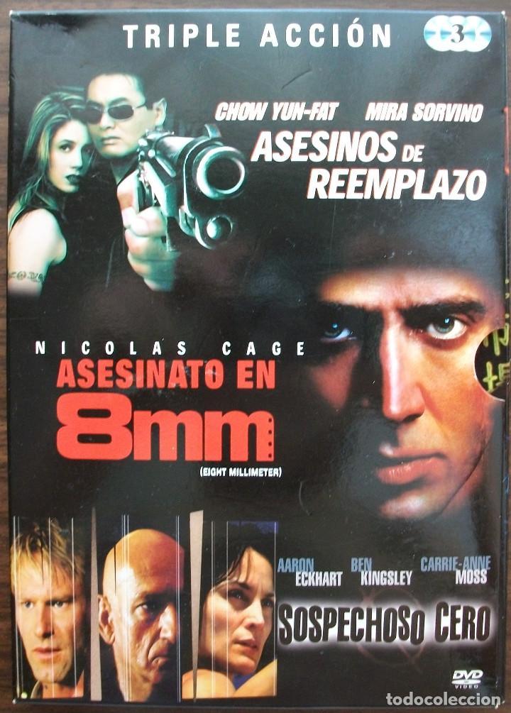 ASESINOS DE REEMPLAZO / ASESINATO EN 8 MM / SOSPECHOSO CERO. (Cine - Películas - DVD)