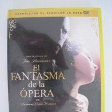 Cine: DVD - EL FANTASMA DE LA OPERA.. Lote 134212758