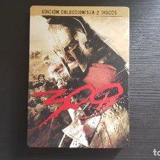 Cine: 300 - ZACK SNYDER - FRANK MILLER - EDICIÓN COLECCIONISTA 2 DISCOS - DVD - CAJA METALICA-WARNER -2007. Lote 134553950