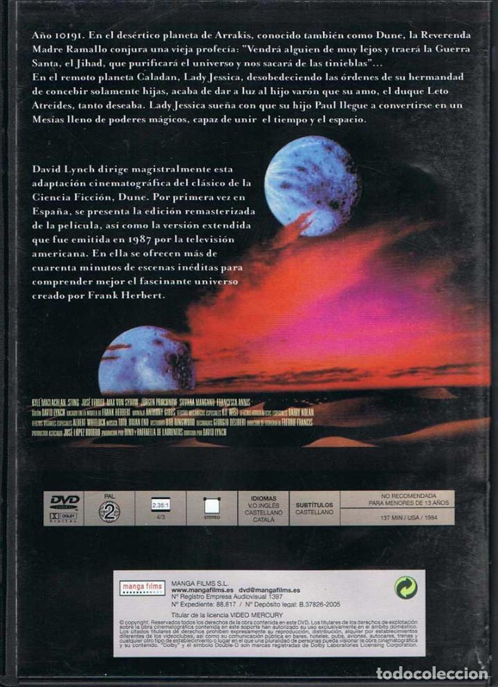 Cine: Dune. DVD. Manga Films - Foto 2 - 134842514