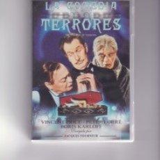 Cine: LA COMEDIA DE LOS TERRORES. CON VINCENT PRICE, PETER LORRE Y BORIS KARLOFF. Lote 134899394
