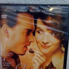 Cine: DVD - CHOCOLAT - JOHNNY DEPP - DESCATALOGADA - PRECINTADA. Lote 135184078