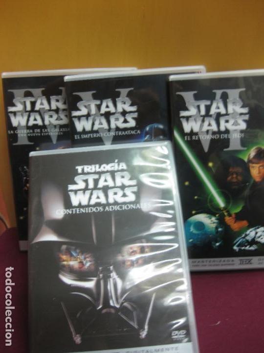 Cine: TRILOGIA STAR WARS MASTERIZADA. DVD. + UN DVD CON CONTENIDOS ADICIONALES. - Foto 2 - 135311510