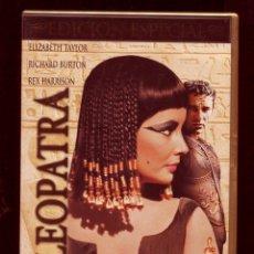 Cine: CLEOPATRA ELIZABETH TAYLOR, RICHARD BURTON, REX HARRISON. EDICIÓN ESPECIAL 3 DVD. Lote 135363282