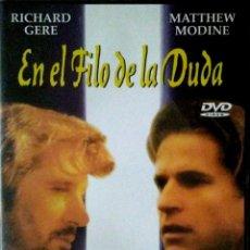 Cine: EN EL FILO DE LA DUDA - DVD - ARABA FILMS- DIVISA EDICIONES - RICHARD GERE. Lote 135374350