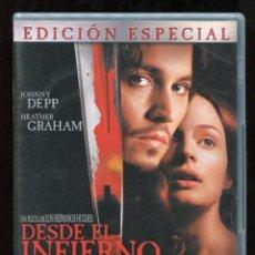Cine: DESDE EL INFIERNO - EDICIÓN ESPECIAL 2 DVD - CON JOHNNY DEPP HEATHER GRAHAM DVD. Lote 176861357