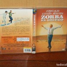 Cine: ZORBA EL GRIEGO - ANTHONY WUINN - ALAN BATES - IRENE PAPAS - DEMICHAEL COCOYANNIS - DVD. Lote 135413966