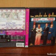 Cine: UNA JAULA DE GRILLOS - GENE HACKMAN - ROBIN WILLIAMS - DE MIKE NICHOLS - DVD CON LIBRETO. Lote 135415886
