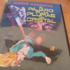 Cine: CINE DVD: EL PAJARO DE LAS PLUMAS DE CRISTAL - DARIO ARGENTO *BUEN ESTADO*. Lote 135663635