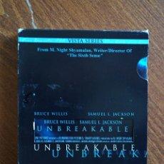 Cine: UNBREAKABLE EL PROTEGIDO M NIGHT SHYAMALAN EDICIÓN ESPECIAL USA DVD ZONA 1. Lote 135665963