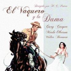 Cine: EL VAQUERO Y LA DAMA (NUEVO). Lote 195063937