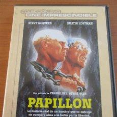 Cine: PAPILLON STEVE MCQUEEN DUSTIN HOFFMAN COLECCIÓN DVD CINE IMPRESCINDIBLE. Lote 135731099