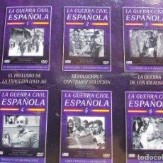 Cine: LA GUERRA CIVIL ESPAÑOLA 6 DVD. Lote 135778702