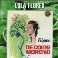 Cine: DE COLOR MORENO DVD (LOLA FLORES - DESCAT.) ..ENREDOS Y DISIMULOS DE PAREJA EN TIERRAS LEJANAS. Lote 136065874