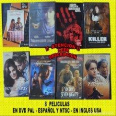 Cine: DVD PELICULAS LOTE 8 UNIDADES PAL ESPAÑA Y NTSC INGLES USA (VER DESCRIPCION). Lote 136289594
