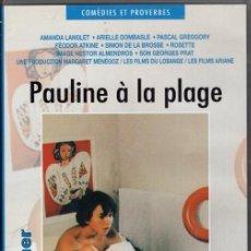 Cine: DVD - PAULINE A LA PLAGE (EN FRANCÉS -NO ESPAÑOL)...EL DESPERTAR SEXUAL DE UNA JOVENCITA. Lote 136496286