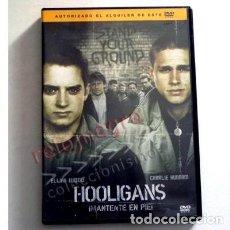 Cine: HOOLIGANS MANTENTE EN PIE DVD PELÍCULA ELIJAH WOOD FÚTBOL VIOLENCIA INGLESES HINCHAS PELEAS DEPORTE. Lote 136613342