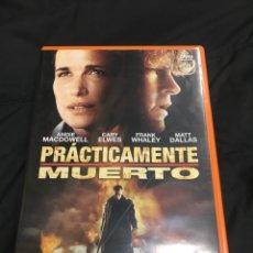 Cine: ( S45 ) PRÁCTICAMENTE MUERTO - CARY ELWES ( DVD SEGUNDA MANO ). Lote 136623396