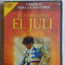 Cine: F-835- PELÍCULA DVD TOREROS PARA LA HISTORIA. EL FENÓMENO EL JULI. TAUROMAQUIA. NUEVA. PRECINTADA.. Lote 136640198