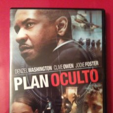Cine: PLAN OCULTO DVD. Lote 136820396