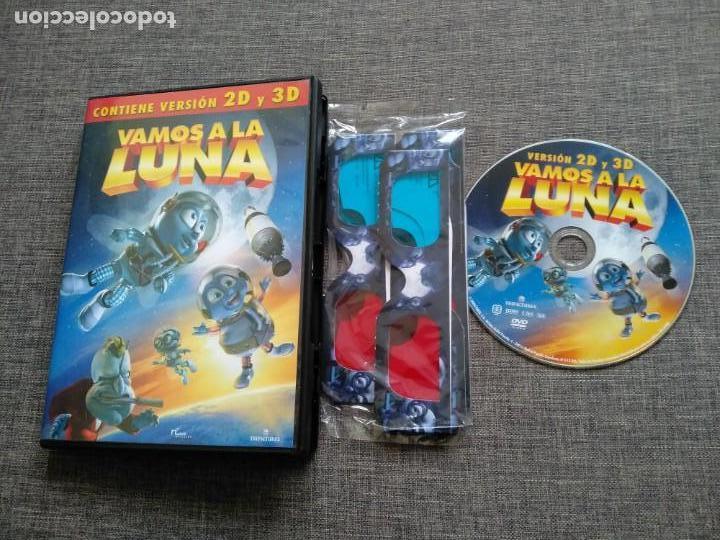 DVD VAMOS A LA LUNA - 2D Y 3D - CON GAFAS - CHRISTOPHER LLOYD - TIM CURRY - RARE segunda mano