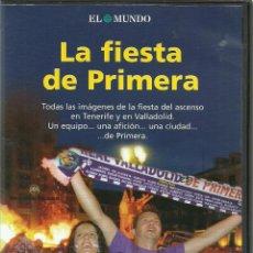 Cine: DVD FUTBOL - LA FIESTA DE PRIMERA - ASCENSO DEL REAL VALLADOLID EL AÑO 2007 EN TENERIFE. Lote 137206450