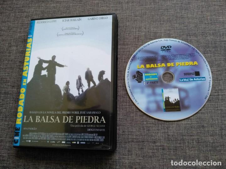 DVD LA BALSA DE PIEDRA - JOSE SARAMAGO - ASTURIAS - FEDERICO LUPPI - BOLLAIN, usado segunda mano