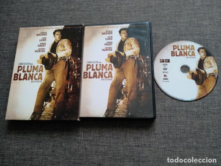 DVD PLUMA BLANCA - WHITE FEATHER - LEONARD GOLDSTEIN - ROBERT WAGNER - RARE segunda mano