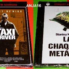Cine: TAXI DRIVER + LA CHAQUETA METALICA / FULL METAL JACKET - DVD+LIBRO PRECINTADA. Lote 137343902