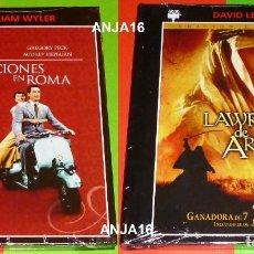 Cine: LAWRENCE DE ARABIA + VACACIONES EN ROMA - DVD+LIBRO - PRECINTADA. Lote 137344418