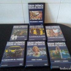 Cine: 52-LOTE 7 DVD GRAN CRONICA OCEANO SIGLO XX. Lote 137502214