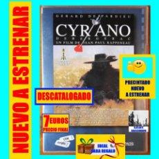 Cine: CYRANO DE BERGERAC - GERARD DEPARDIEU / JEAN PAUL RAPPENEAU - NUEVO A ESTRENAR - PRECINTADO. Lote 137678506