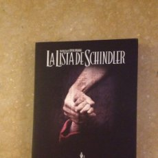 Cine: LA LISTA DE SCHINDLER (STEVEN SPIELBERG) DVD. Lote 137887905