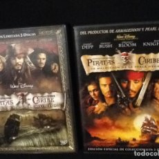 Cine: PIRATAS DEL CARIBE. 2 PELÍCULAS EDICIONES ESPECIALES. DVD. Lote 138052338