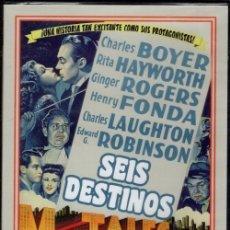 Cinema: SEIS DESTINOS DVD (J. DUVIVIER) 6 ABSORBENTES HISTORIAS ..ALREDEDOR DE UN TRAJE QUE VA CAMBIANDO. Lote 138060174