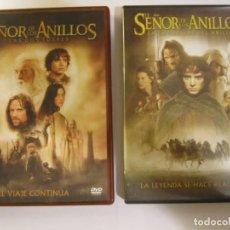 Cine: LOTE 2 DVD DOBLE EL SEÑOR DE LOS ANILLOS LA COMUNIDAD DEL ANILLO LAS DOS TORRES. Lote 138720502