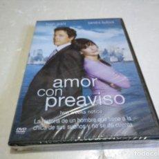 Cine: AMOR CON PREAVISO DVD NUEVO PRECINTADO. Lote 138774314