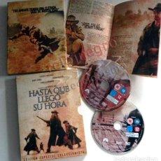 Cine: HASTA QUE LLEGÓ SU HORA DVD EDICIÓN COLECCIONISTA - DOCUMENTALES LEONE BRONSON CARDINALE FONDA OESTE. Lote 138784302