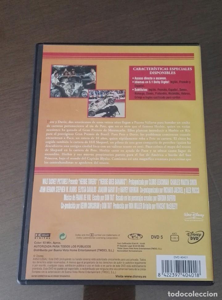 Cine: Herbie torero dvd DISNEY pelicula descatalogada - Foto 2 - 138943706