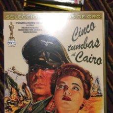 Cine: DVD CINCO TUMBAS AL CAIRO DVD COMO NUEVO. Lote 139258522