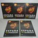 Cine: LOTE 5 DVDS ESPAÑA MUNDIAL SUDÁFRICA 2010 SELECCIÓN ESPAÑOLA. Lote 139481854