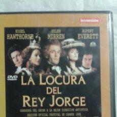 Cine: DVD LA LOCURA DEL REY JORGE. Lote 139494216