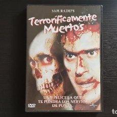Cine: TERRORIFICAMENTE MUERTOS - SAM RAIMI - DVD - BRUCE CAMPBELL - EVIL DEAD II - UNIVERSAL - 2001. Lote 139497074