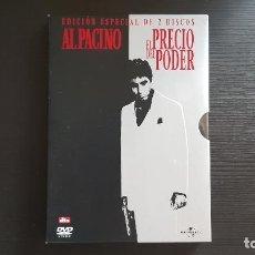 Cine: EL PRECIO DEL PODER - AL PACINO - DE PALMA - STONE - DOBLE DVD - UNIVERSAL - 2003 - SCARFACE. Lote 139503130