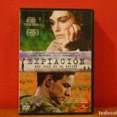 Cine: EXPIACIÓN MÁS ALLÁ DE LA PASIÓN DVD JAMES MCAVOY KEIRA KNIGHTLEY JOE WRIGHT . Lote 139913694