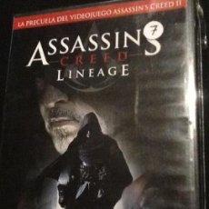 Cine: ASSASSIN'S CREED LINEAGE EN DVD. Lote 139917842