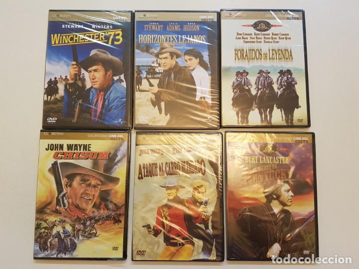 6 PELICULAS DEL OESTE ANTIGUAS DE EL MUNDO, PRECINTADAS (Cine - Películas - DVD)