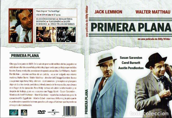 PRIMERA PLANA. - DVD. BILLY WILDER. EEUU. 1974. COMEDIA. (Cine - Películas - DVD)