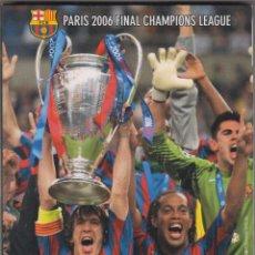 Cine: CAMPIONS D'EUROPA DVD PARIS 2006 FINAL CHAMPIONS LEAGUE + WEMBLEY 92 FÚTBOL CLUB BARCELONA. Lote 140161210