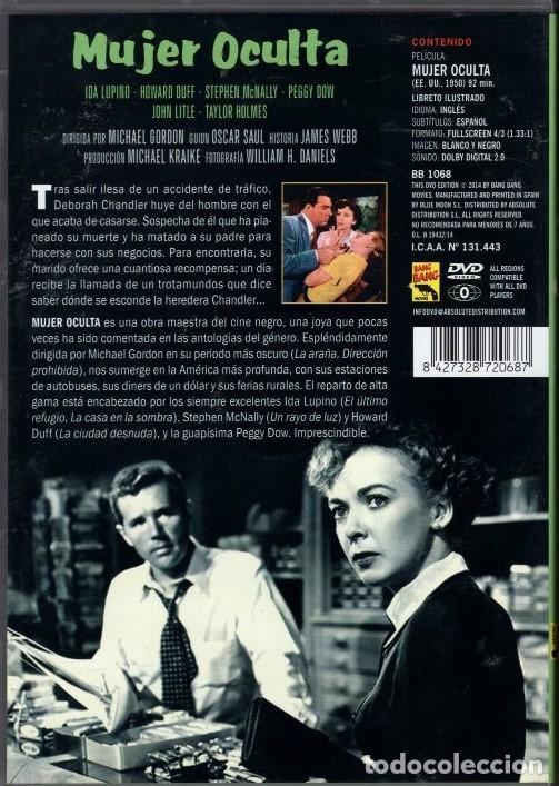 Cine: MUJER OCULTA dvd (IDA LUPINO +JAMES DUFF): .OBRA MAESTRA DEL CINE NEGRO...Y UN RETRATO DE LA EPOCA - Foto 2 - 194356276